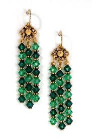 03 04 435 green crystal chandelier earrings emerald lt emerald