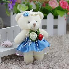 <b>12pcs lot</b> Kawaii Small Teddy Bears Stuffed Plush <b>12cm</b> Mini ...