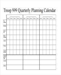 7 Quarterly Calendar Templates Word Pdf Free Premium