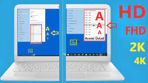 Bilgisayar Ekran küçültme [Çözünürlük] Windows 10 ayarları - YouTube