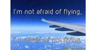 Flight Quotes Impressive I'm Not Afraid Of Flying I'm Afraid Of Not Flying