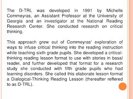 Reading as Thinking  Enhancing literacy instruction using a     Wikibooks