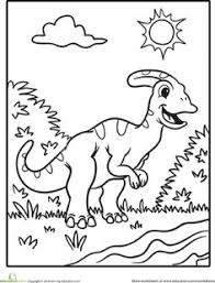 Small Picture Parasaurolophus Coloring Page Worksheets and Craft