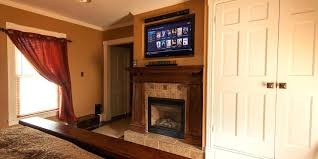 mount tv over fireplace mount tv above fireplace where to put cable box