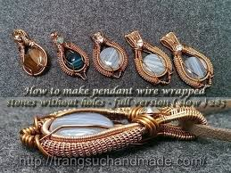 wire a wire wrapped pendant free tutorial with pictures on how to make a