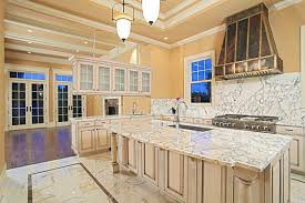 Tiled Kitchens Blue Design Accent Color On Cabinets Porcelain Tile Kitchen Floor