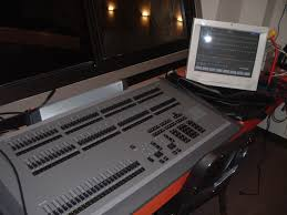 the strand electric grand master lighting control stll in position in the stage left wing of the gaumont state kilburn in april 2009 photo m l