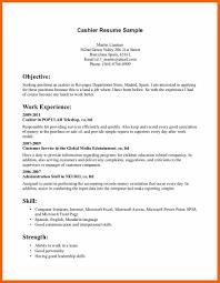 6 7 Cashier Resume Objective Formsresume