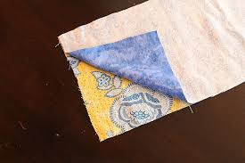 diy microwavable heating pads 2 arrange the pinned fabric so that one of the 7 ½ ends is in your right hand this is going to be the end where you ll