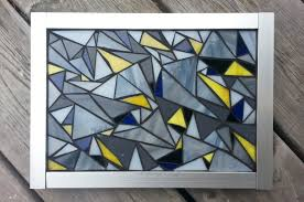 sanded grout used on stained glass mosaic art