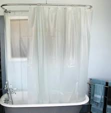 to make an oval shower curtain rod curved diy how l shaped