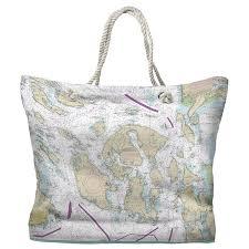 Nautical Charts San Juan Islands Wa Wa San Juan Islands Wa Nautical Chart Tote Bag In 2019