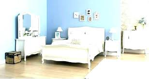 Traditional Green Bedroom Color With White Furniture Set Design ...