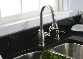 polished nickel kitchen faucet modern