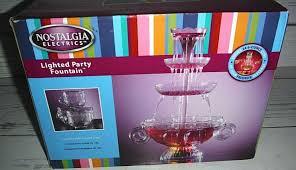 Nostalgia Dbf15wt Innova Deluxe Lighted Beverage Party Fountain New Nostalgia Electrics Lighted Drink Party Fountain 3 Tier Beverage Punch