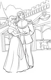 Prince Shows Something To Cinderella Coloring