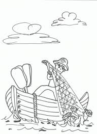 Small Picture Fisherman coloring pages for free