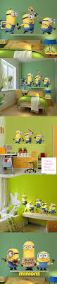 Minions Bedroom Wallpaper Cute Wall Stickers Home Decor Removable Minion Wallpaper For Kids