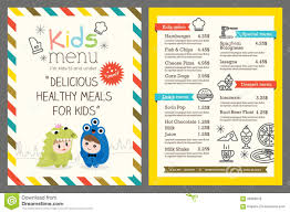 Free Templates For Kids Kids Menu Vector Template Stock Vector Illustration Of Meal 56968679