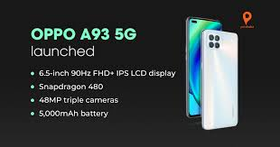OPPO A93 5G with Snapdragon 480 SoC and ...