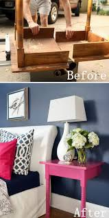 diy furniture makeovers unused table repurposed into nightstands