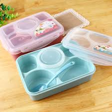 Magic Kitchen Sealed Microwaveable Bento Lunch Set Microwave For Kids Adult Office 5+1 Food Container Storage Box KC1309