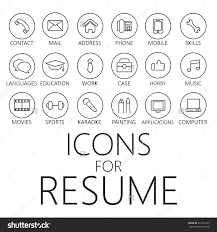 Modern Resume Icon Thin Line Icons Pack For Cv Resume Job Cvicon Line Icon Icon