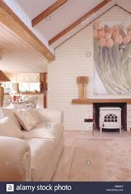 Living Room Extension Cream Sofa In Modern Cottage Living Room Extension With Large