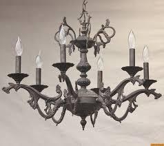 4230 6 brass spanish cast chandelier