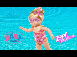 baby born mummy i can swim doll baby born doll reall swims in the bath thechildhoodlife