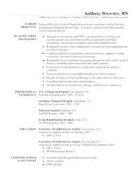 Nursing Objective Resume Er Nursing Resume Sample Nursing Resume