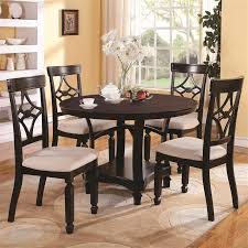 maude 5 piece round dining set in cappuccino finish by coaster 103630 throughout inspirations 0