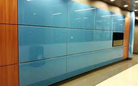 colored glass panels wake tech custom blue in color for doors
