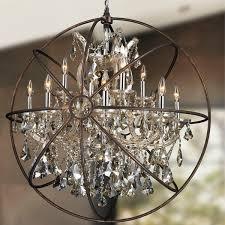 foucaults orb chandelier 13 light chrome finish golden teak for amazing residence foucault orb chandelier designs