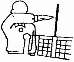Реферат Правила Волейбола ru 20 Касание по другую сторону сетки