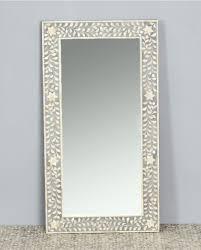 mirror frame. Wonderful Mirror Floral Bone Inlay Mirror Rectangular Frame Mud Grey  Bowerbird Home  Wall Decor  For Frame O