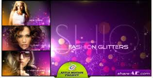 Motion Template Fashion Glitters Apple Motion Template Videohive Free After