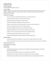 Writing A Resume Template Mesmerizing 48 Writer Resume Templates PDF DOC Free Premium Templates