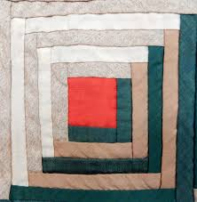 Antique 1860-1880 Lancaster Co., PA Wool Log Cabin Quilt | Mary ... & 16c Adamdwight.com