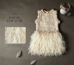 Handmade fur feather <b>dress</b> Baby Lace <b>Dress Princess Puffy</b> Maxi ...