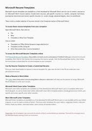Resume Cover Letter Template Word Inspiration Sample Cover Letter For Job Resume Awesome How To Make A Cover