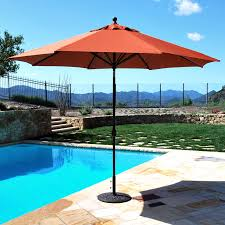 galtech sunbrella 11 ft maximum shade deluxe aluminum auto tilt patio umbrella hayneedle