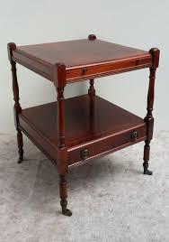 mahogany side table with inlay