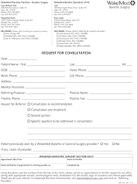 Wakemed Bariatric Specialists Of Nc Referral Form Surgery Nc