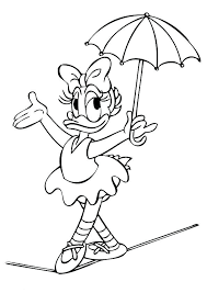 Daisy Duck Coloring Pages Wearing Of Minnie Mouse And Chronicles
