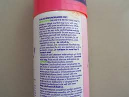 nair rose hair removal spray with baby oil claims