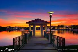 super gorgeous sunset today from palm beach gardens florida at downtown at the gardens by the gazebo hdr photography image created using photomatix pro and