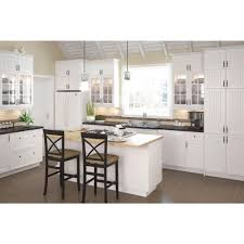 Home Depot Kitchen Furniture Eurostyle 36x30x125 In Odessa Wall Cabinet In White Melamine And