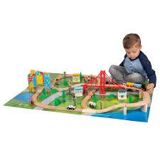squirrel play 80 piece wooden train set