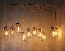 alluring bell jar lamp set about best lamp mason jar chandelier lighting fixture large rustic mason